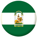 Andalusia Flag 58mm Button Badge.